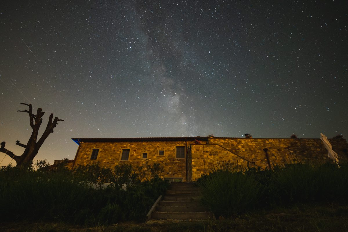 Admire the most beautiful skies in Italy at the Podere La Doccia